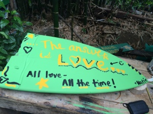 Sprinkling love every where I go:) some art I made for the Turtle conservation project while down in OSA :)